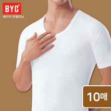 [BYC] 남성 베이직 반팔런닝 10매/순면