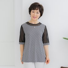 마담4060 엄마옷 진주장식티셔츠-ZTE005041-