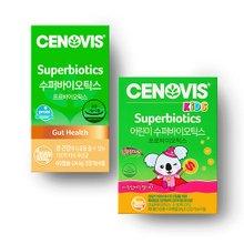 [세노비스] 수퍼바이오틱스 Lp299v 유산균 60캡슐+키즈 어린이 유산균 30포