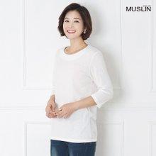 [엄마옷 모슬린] 데일리 7부 티셔츠 TS908088