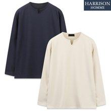 [해리슨] 리버플 브이 트임 긴팔 티셔츠 SME1100
