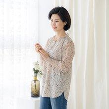 마담4060 엄마옷 차분한플리츠블라우스-ZBL002032-