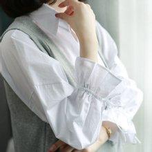 [웬디즈갤러리]리본 반오픈 셔츠 블라우스 OBL002