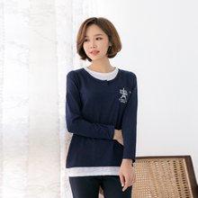 마담4060 엄마옷 사이드바이티셔츠 QTE902018