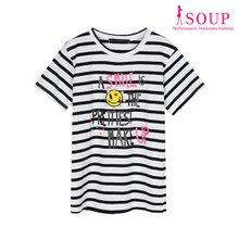 SOUP 스마일 장식 티셔츠(ST5ST4O)
