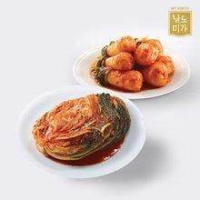 [남도미가] 감칠맛 나는 전라도 포기김치 3kg + 총각김치 2kg