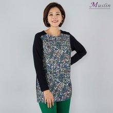 잔꽃 플리츠티셔츠 -TS8030936-모슬린 엄마옷 마담