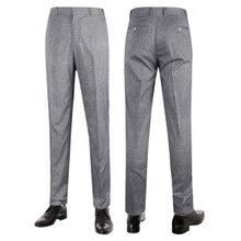 [파파브로]남성 여름 노턱 스판 양복 팬츠 정장바지 LO-C114-그레이