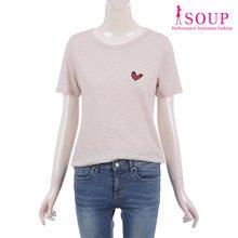 SOUP 와펜 디테일 티셔츠(ST5ST92)