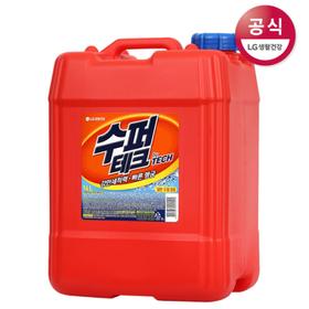 [수퍼테크] 대용량 액체세제 일반드럼겸용 14L