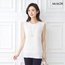 엄마옷 모슬린 시원한 나시 라운드 티셔츠 TS006005