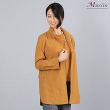 와이어단추 셔츠형자켓-JK8022612-모슬린 엄마옷 마담