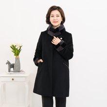 마담4060 엄마옷 고급체크밍크코트-ZCO912013-