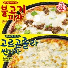 [오뚜기] 불고기 피자 396g x 1팩 + 고르곤졸라 씬피자 288g x 1팩