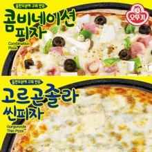 [오뚜기] 콤비네이션 피자 415g x 1팩 + 고르곤졸라 씬피자 288g x 1팩