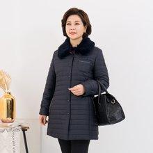 마담4060 엄마옷 럭셔리털카라점퍼-ZJP912024-