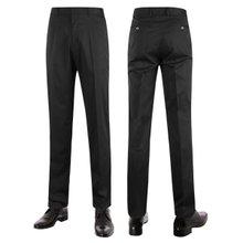 [파파브로]남성 여름 노턱 스판 양복 팬츠 정장바지 LO-C116-블랙
