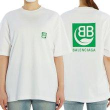 [발렌시아가] BB 로고 594599 THV63 9000 여자 반팔티셔츠