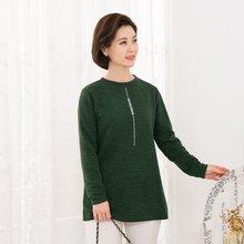 마담4060 엄마옷 큐빅라인배색티셔츠-ZTE912042-