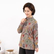 마담4060 엄마옷 플라워드로잉티셔츠-ZTE911026-