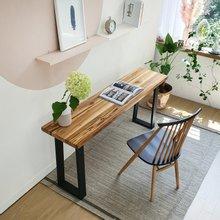 우드인미 티크원목 사이드 테이블 1400-ap/원목테이블/원목책상/다용도테이블