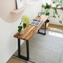 우드인미 티크원목 사이드 테이블 1600-ap/원목테이블/원목책상/다용도테이블