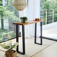 우드인미 티크원목 홈바테이블 1200-ap/원목테이블/사이드테이블/홈바식탁/카페테이블