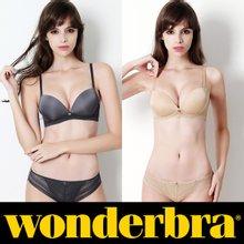 [Wonderbra] 원더브라 노와이어 딥그레이+베이지 브라팬티 4종세트 WBW8F6465_T
