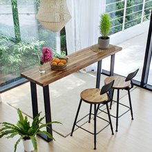 우드인미 티크원목 홈바테이블 1400-ap/원목테이블/사이드테이블/홈바식탁/카페테이블