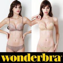[Wonderbra] 원더브라 노와이어 베이지+코코아 브라팬티 4종세트 WBW8F6566_T