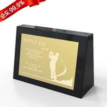 [골드모아] 순금 블랙 크리스탈 트로피소형 [골프] 3.75g 24K 홀인원 이글 싱글 기념 선물 언더파
