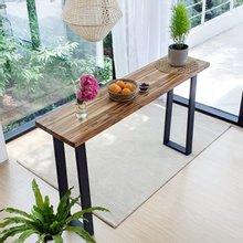 우드인미 티크원목 홈바테이블 1600-ap/원목테이블/사이드테이블/홈바식탁/카페테이블