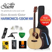 [글로벌뮤직]하몬 통기타 Harmonics-120OM NM(하모닉스기타, 포크기타, 구성품증정)