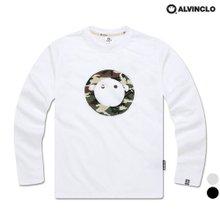 [앨빈클로]AVT-392 카모 로고 티셔츠 남자 여자 커플룩 단체