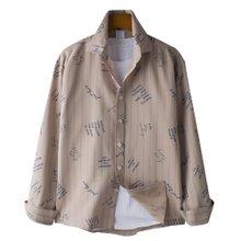 고스트리퍼블릭 스트라이프 레터링 패턴 셔츠 MSH-575