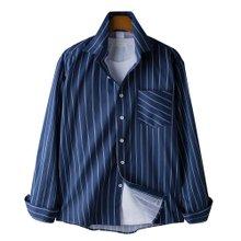 고스트리퍼블릭 모던 스트라이프 포켓 셔츠 MSH-574
