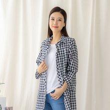 마담4060 엄마옷 체크포켓셔츠-ZBL005043-