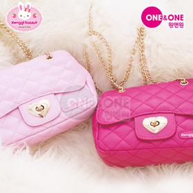 [콩지래빗] 콩지래빗 골드체인 핸드백(진핑크or연핑크) / 어린이가방, 소풍가방