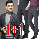 1+1 겨울용 허리밴드 사방스판 안감본딩 정장바지
