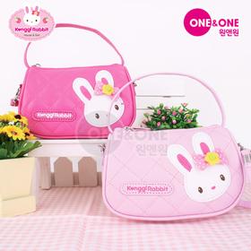 [콩지래빗] 콩지래빗 누빔핸드백(진핑크or연핑크) / 어린이가방, 토끼가방