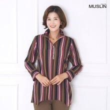 엄마옷 모슬린 인디언 스트라이프 티셔츠 TK908015