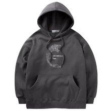 고스트리퍼블릭 남녀공용 오버핏 후드티셔츠 G2HT45-1WH