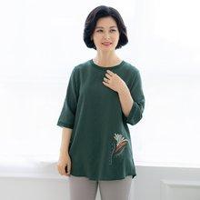 마담4060 엄마옷 소중한꽃티셔츠-ZTE004046-