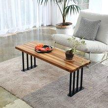 해찬솔 티크원목 거실 소파 테이블 1200-as/벤치의자/원목테이블/다용도테이블