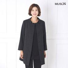 엄마옷 모슬린 하이넥 소매지퍼 자켓 JK908001