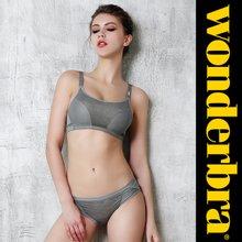 [Wonderbra] 원더브라 스포츠 노와이어 멜란그레이 브라팬티 2종세트 WBW8F48_T