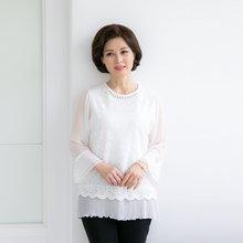 마담4060 엄마옷 화사한외출티셔츠 QTE905007