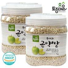 [토종마을]HACCP인증 풋사과 곤약쌀 1kg X 2개 (총 2kg)