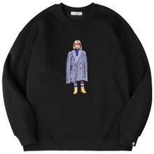 고스트리퍼블릭 남녀공용 오버핏 맨투맨 티셔츠 G2MT11-01WH