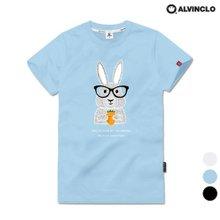 [앨빈클로]AST-3797 귀여운 래빗 반팔 티셔츠